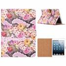 Ntech Ntech iPad 9.7 inch (2018) / (2017) Margrietjes Design Booktype Kunstleer Hoesje Met Pasjesruimte