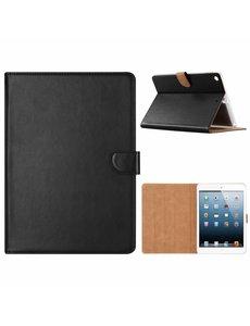 Merkloos iPad 9.7 inch (2018) / (2017) Zwart Booktype Kunstleer Hoesje Met Pasjesruimte