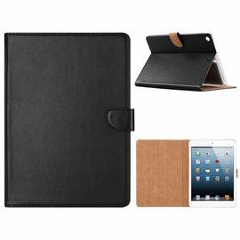 Ntech Ntech iPad 9.7 inch (2018) / (2017) Zwart Booktype Kunstleer Hoesje Met Pasjesruimte