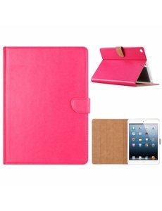 Merkloos iPad 9.7 inch (2018) / (2017) Roze Booktype Kunstleer Hoesje Met Pasjesruimte