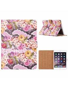 Merkloos iPad Air Margrietjes Design Booktype Kunstleer Hoesje Met Pasjesruimte