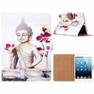 Ntech Ntech iPad mini 1 / 2 / 3 Boeddha & Bloem Design Booktype Kunstleer Hoesje Met Pasjesruimte