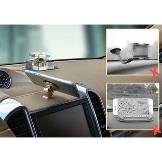Ntech Ntech Luxe 360 Universele one Touch Magnetische Dashboard houder Zwart