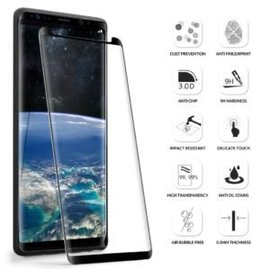 Merkloos Samsung Galaxy Note 9 Premium Curved 5D Tempered Glass screen protector zwart