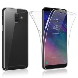 Merkloos 360° Protection Hoesje PC & Kunststof Transparant Samsung Galaxy A6
