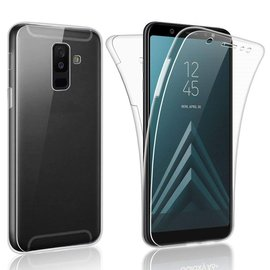 Merkloos 360° Protection Hoesje PC & Kunststof Transparant Samsung Galaxy A6+ Plus