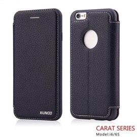 Carat Carat series full cover wallet case hoesje voor iPhone 6 / 6S 4,7  booktype cover Donker Blauw