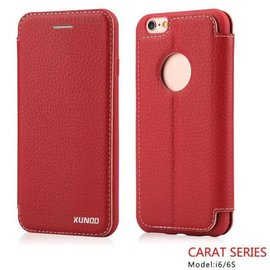 Carat Carat series full cover wallet case hoesje voor iPhone 6 / 6S 4,7  booktype cover Rood