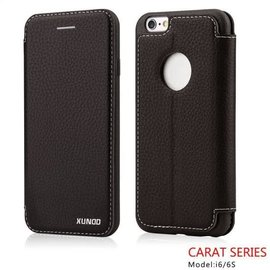 Carat Carat series full cover wallet case hoesje voor iPhone 6 / 6S 4,7  booktype cover Zwart