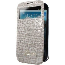 Guess Guess - Collection Crocodile battery cover booktype Samsung Galaxy S4 beige