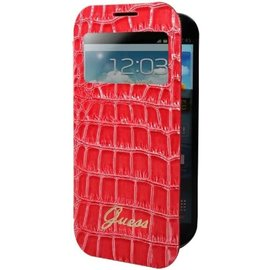 Guess Guess Battery Cover Bookcase Samsung Galaxy S4 Croco Red