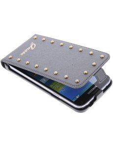 Guess Guess Studded Collection Flip Case Silver Samsung Galaxy S5