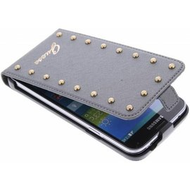 Guess Guess Studded Collection Flip Case Silver Galaxy S5