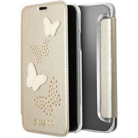 """Guess Guess Studs and Sparkle Book Case - Apple iPhone X / Xs (5.8"""") - Goud"""