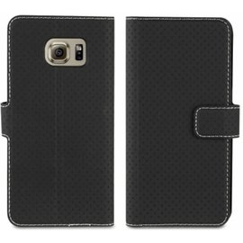 Muvit Muvit Samsung Galaxy S6 Edge Wallet Stand case with 3 cardslots - Black