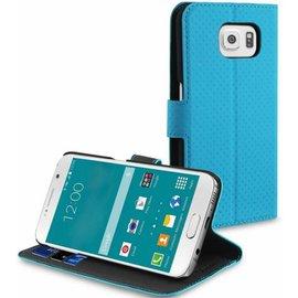 Muvit Muvit Wallet Stand case met 3 cardslots voor Samsung Galaxy S6  - Blauw