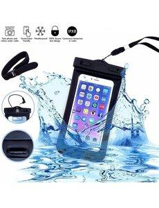 Merkloos Neon Multi Functional Waterdichte telefoon hoesje Pouch Met headphone Audio Jack voor iPhone 7 / 7 Plus / SE / 6 / 6S / 6 Plus / 6S / S7 / S7 Edge / P9 Lite / S6 / S6 edge / S6 Edge / OnePlus 3 / Pixel XL / Pixel / A510 / J510 / Zwart