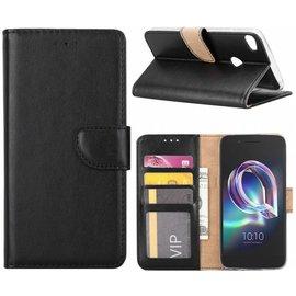 Ntech Ntech Alcatel A7 Portemonnee hoesje / book case Zwart