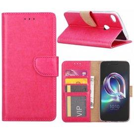 Merkloos Alcatel Idol 5 Portemonnee hoesje / book case Pink