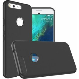 Merkloos Google Pixel XL Soft tpu backcover silicone hoesje zwart