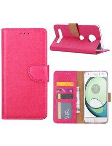 Merkloos Motorola Moto Z Play Portemonnee hoesje / case cover Pink