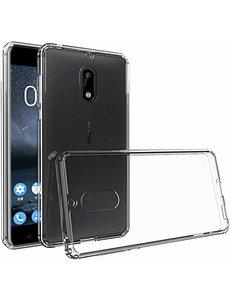 Merkloos Nokia 6 (2018) clear transparant tpu hoesje ultra dunne