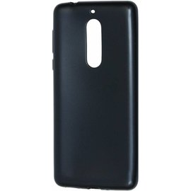 Merkloos Nokia 8 zwart colour silicone tpu hoesje