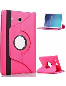Merkloos Pink / Roze Samsung Galaxy Tab E 9,6 inch Tablet Case hoesje met 360? draaistand cover hoes