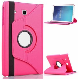 Merkloos Pink / Roze   Galaxy Tab E 9,6 inch Tablet Case hoesje met 360ᄚ draaistand cover hoes