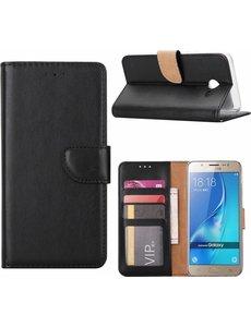 Merkloos Samsung Galaxy A3 2016 Portmeonnee hoesje / book style case Zwart