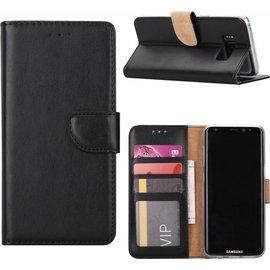 Ntech Ntech Samsung Galaxy A7 (2018) Portmeonnee hoesje / book style case Zwart