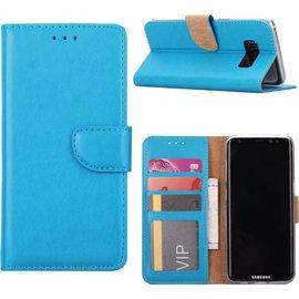 Merkloos Samsung Galaxy A8 (2018) Portmeonnee hoesje / book style case Blauw