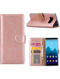 Merkloos Samsung Galaxy A8 (2018) Portmeonnee hoesje / book style case Rose Goud