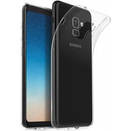 Merkloos Samsung Galaxy A8 (2018) Silicone cover / Transparant tpu hoesje