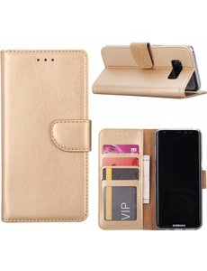 Merkloos Samsung Galaxy Note 8 Portemonnee hoesje / book case Gold