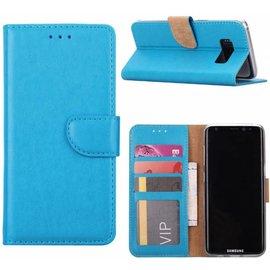 Merkloos Samsung Galaxy S6 Edge Portmeonnee hoesje  / booktype case Blauw