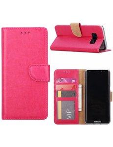 Merkloos Samsung Galaxy S6 Edge Portmeonnee hoesje / booktype case Pink