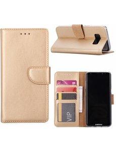 Merkloos Samsung Galaxy S6 Portmeonnee hoesje / booktype case Champagne Goud