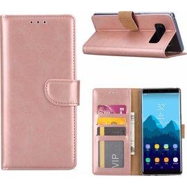 Merkloos Samsung Galaxy S8 Portemonnee hoesje / booktype case Rose Goud