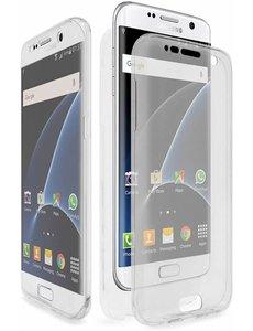 Merkloos Shockproof 360 Samsung Galaxy A3 (2017) Ultra Dun Gel TPU Siliconen Hoesje Full Cover / Case (Voor en Achter) Transparant