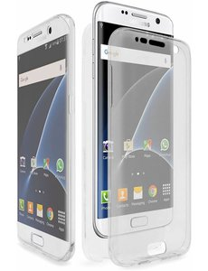 Merkloos Shockproof 360 Samsung Galaxy A5 (2017) Transparant Ultra Dun Gel TPU Siliconen Hoesje Full Cover / Case (Voor en Achter)