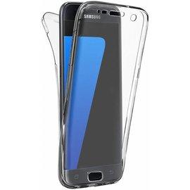 Merkloos Silicone Hoesje Voor en Achter Samsung Galaxy S7 Edge Transparant