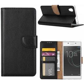 Merkloos Sony Xperia XA1 Plus Portemonnee hoesje / book case Zwart