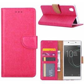 Merkloos Sony Xperia XA1 Ultra Portemonnee hoesje / book case Pink