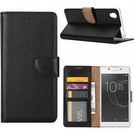 Merkloos Sony Xperia XZ Premium Portemonnee / Boektype hoesje met stand Zwart