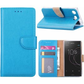 Ntech Ntech Sony Xperia XZ1 Compact Portemonnee hoesje / book case Blauw
