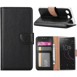 Merkloos Sony Xperia XZ1 Compact Portemonnee hoesje / book case Zwart
