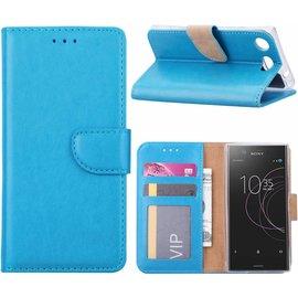 Merkloos Sony Xperia XZ1 Portemonnee hoesje / book case Blauw