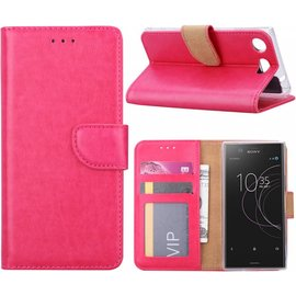 Merkloos Sony Xperia XZ1 Portemonnee hoesje / book case Pink
