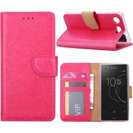 Ntech Ntech Sony Xperia XZ1 Portemonnee hoesje / book case Pink